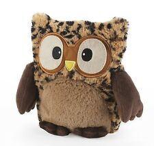 Intelex Hooty Owl Tawny Microwavable Bed Time Leopard Print Teddy Heatable Gift