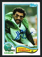 Herman Edwards #442 signed autograph auto 1982 Topps Football Trading Card