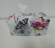 Tissue Box Cover Dragonflies Butterflies with Circle Opening - Great Gift!