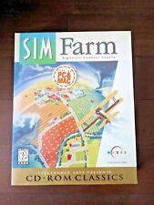 SIM FARM CD-Rom Classics PC & Mac Game Big Box New Sealed Maxis