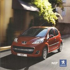 Peugeot 107 2009-10 UK Market Sales Brochure Urban 1.0 3-dr 5-dr