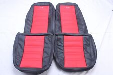 Custom Made 1975-1978 Corvette C3 Real Leather Seat Covers Black and Red