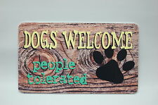 Dog welcome sign wall plaque office home decor door