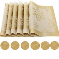 Des 6 4x Tischsets Platzset Platzdeckchen 30x45 cm PVC abwaschbar wasserdicht