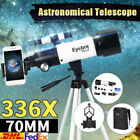 336X70mm Kids Astronomical Telescope Refractor Night View For Star Moon Outdoor