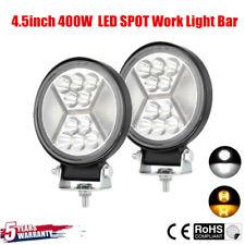 2X 4.5inch 400W CREE LED SPOT Work Light Bar Flush Mount Combo Driving Lamp 12V@