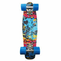 Rimable 22 Inch Mini Cruiser Retro Skateboard Earth Graphic