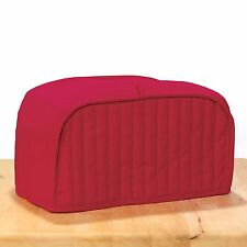 Red Quilted Home Kitchen Dining Countertop Appliance 4 Slice Toaster Dust Cover