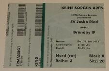 Ticket for collectors EL SV Ried Brondby Copenhagen 2012 Austria Denmark