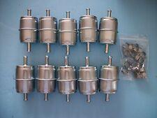 """QTY 10 Fuel Filters 5/16"""" Metal JD AM876035 Kubota 12581-43012 Toro 108-3831"""