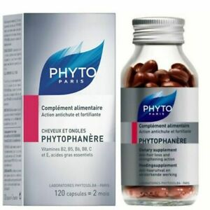 PHYTO Phytophanère Hair and Nails Dietary Supplement 2 Month Supply 120 Count