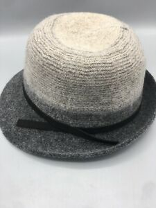 AD1062 - SOFT WOOL HAT | CLOCHE Adjustable Brand New With Tags Gray Ombré Travel