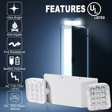 Led Emergency Exit Light Adjustable Dual Head Lamp With Battery Backup