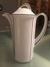 Porzellan Kaffeekanne von Winterling schwarz weiss