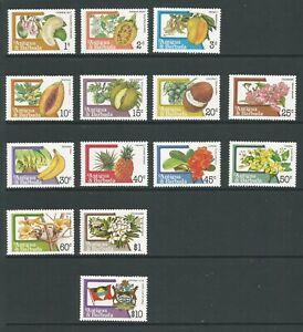 Antigua & Barbuda 1983 Fruits & Flowers Mounted Mint Short Set SG 793 /810