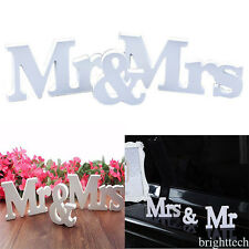 Rustic Wedding Decorations Large Wooden Letters Mr and Mrs Sign Wedding 2017