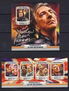 Guinea Bissau - Alan Rickman - stamps MNH** Z16