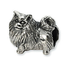 Pomeranian Bead .925 Sterling Silver Antique Finish Reflection Beads