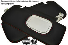 RED STITCHING 2X SUN VISORS LEATHER COVERS FITS FIAT 500X 500 X 2014-2017