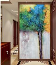YA#296 Large Hand-painted abstract oil painting on Canvas Tree No Frame 48in