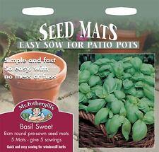 Mr Fothergills - Pictorial Packet - Herb - Basil - Sweet - 8cm Seed Mats