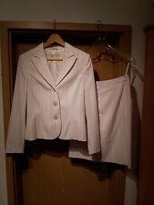 Damenkostüm Gr. 38, weiß, farbig gestreift, Apart, einreihig, Business