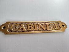 Plaque de porte laiton massif CABINE 1  neuve longueur 17,5cm
