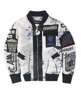 NEW DIESEL Kids RRP £249 AGE 8 YEARS Designer Blouson Jacket Top Unisex B115