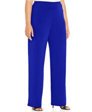 Alfani Plus Size Wide Leg Soft Pants Womens Size 1X Laser Blue