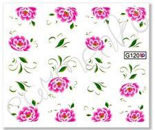 Nagelsticker Nail Sticker Tattoo Fingernagel Aufkleber Blume Schnörkel wasser