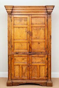 Imposing 19th Century English Pine Cabinet