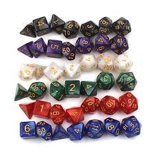 7pcs/lot Dice Marble d4 d6 d8 d10 d10 d12 d20 DUNGEON and DRAGONS rpg Dice Game