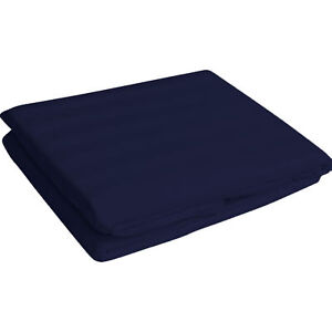 """1000 TC Egyptian Cotton 12"""" Deep Pocket Fitted Sheet All US Size & Striped Color"""