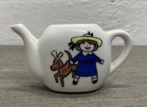 Vtg Child's Madeline Porcelain Tea Party Set Replacement Piece ~ Tea Pot ~No Lid