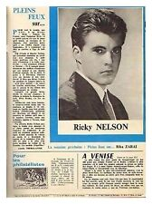 1964 : Document (Ref LIS 19) : chanteur RICKY NELSON (1 page)