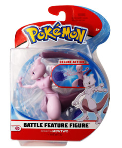 "Pokemon 4.5"" Battle Feature Figure  Mewtwo Toy Gift, Fast Shipping  NEW !"