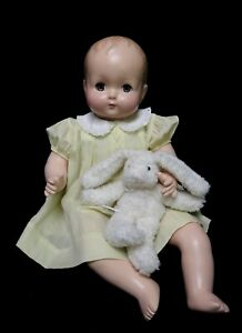 "Composition Effanbee  24"" Sweetie Pie Baby Doll  - (1930-40's) - Restored"