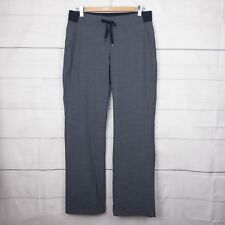 New $98 Athleta Womens Pants 8 (au 12 L) Washable Wool Midtown Active Grey A331