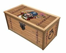 PIRATE TREASURE WOODEN TOY BOX / STORAGE UNIT FOR CHILDREN KIDS TOYS CHEST BOXES