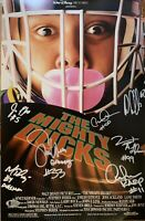 The Mighty Ducks 11x17 Autographed Photo Cast Signed by 7 with Beckett COA