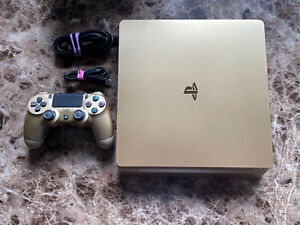 Sony 3002191 PlayStation 4 Slim Limited Edition 1TB Gaming Console - Gold