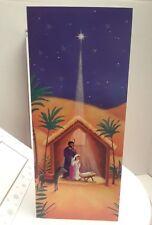 Image Arts 16 Nativity Christmas Cards W/Scripture Luke 2:7, Designed Envelopes