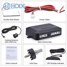 4 Parking Sensors LED Display Car Reverse Radar System Alarm Kit BlackUK