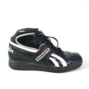 Reebok Union Jack Shoes Black Vintage High Top Men Shoes SIZE 9.5 RB 707 PYE