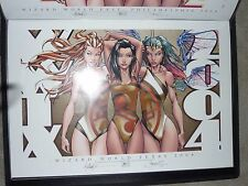 2004 ASPEN WWTX  TOUR ART PRINT SIGNED by MICHAEL TURNER & STEIGERWALD 13x19