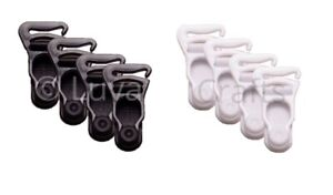 Nortexx Suspender Ends Quality Replacement Garter Clips White Black - 2 Pairs