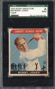 1933 SPORT KINGS #38 BOBBY JONES SGC AUTHENTIC HIGH NUMBER SHARP!