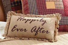 "BURLAP NATURAL ACCENT PILLOW 7X13"" EMBROIDERED CHOCOLATE ""FOLLOW YOUR DREAMS"""
