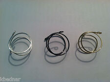 Adjustable MIDI WRAPPED WIRE KNUCKLE RINGS Silver - Gold - Gun Metal  -Set of 3