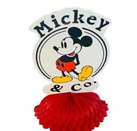 Mickey & Co Mouse Sign vtg Walt Disney paper ruffle decoration figure Contempo